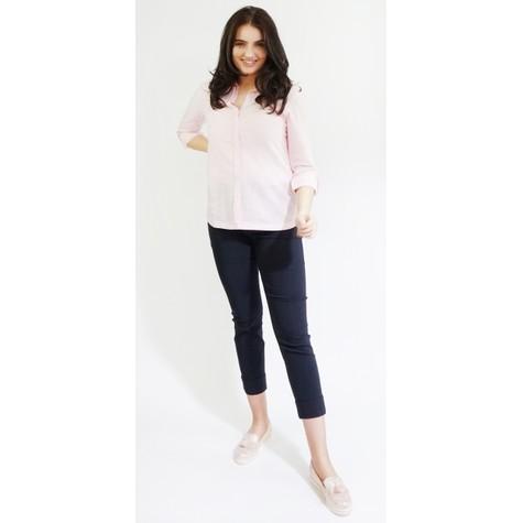 Twist Off White Linen Feel Summer Shirt