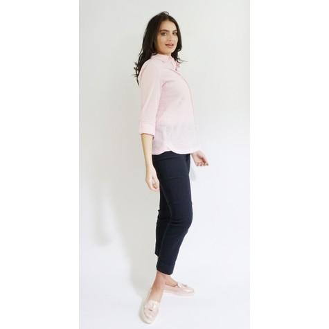 Twist Pale Pink Linen Feel Summer Shirt