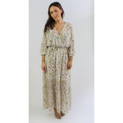Kilky Paris Beige Floral Design Long Dress