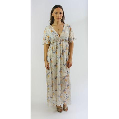 Kilky Paris White Floral Print Long Dress