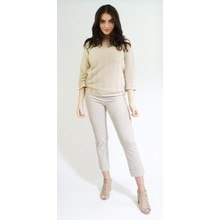 Sophie B Gold Wave Rib Loose Knit