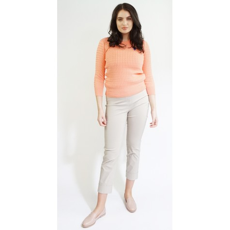 Twist Light Coral Cable Knit