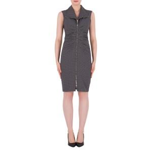 Joseph Ribkoff Black & White Pattern Print Classic Dress