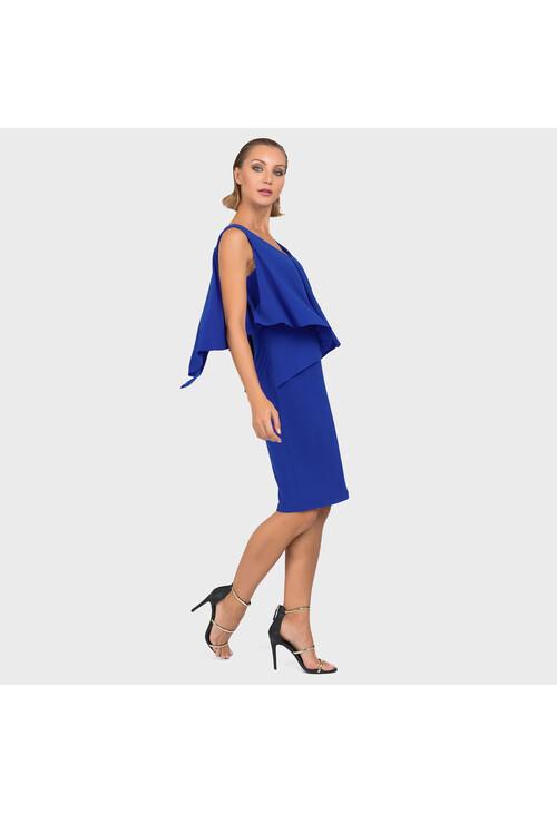 Joseph Ribkoff Royal Blue Cape Classic Dress