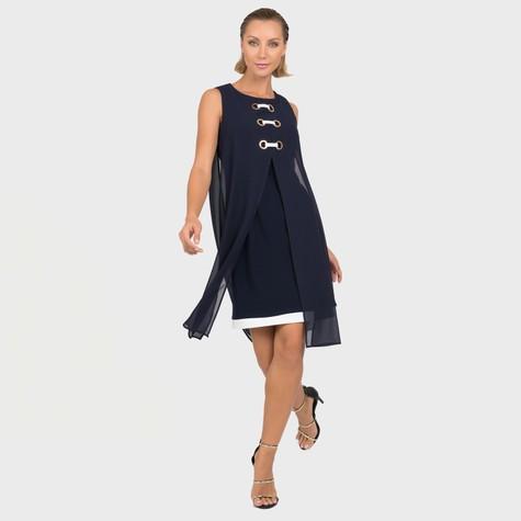 Joseph Ribkoff Navy Classic Cape Dress