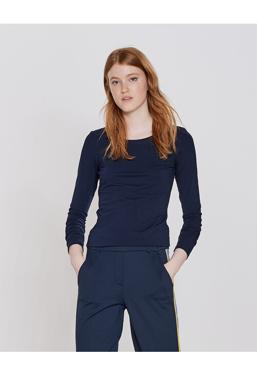Opus Simply Blue Long Sleeve Smilla