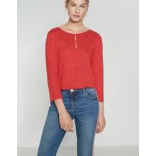 Opus True Red Shirt with print Saskia Polka Dot