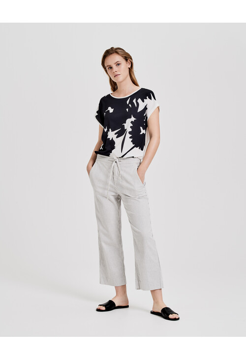 Opus Black Shirt with Saflori Print