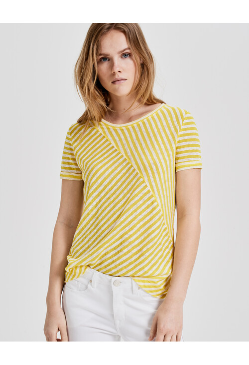 Opus Mellow Yellow Stripe Sasta Shirt