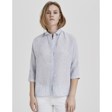 Opus Dream Blue Linen Frona Blouse