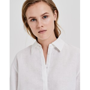Opus Milk White Linen Blouse Friedi