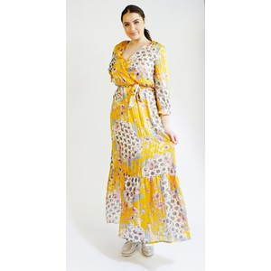 Kilky Paris Jaune, Blue & White Pattern Print Long Dress