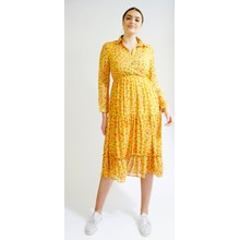Kilky Paris Jaune & Red Flower Pattern Print Dress