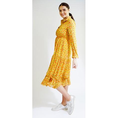 Kilky Paris Jaune & Red Flower Pattern Print Dress