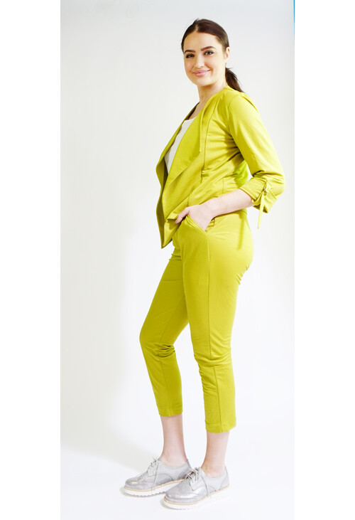 Sophie B Pistachio Buckle Detail Trousers