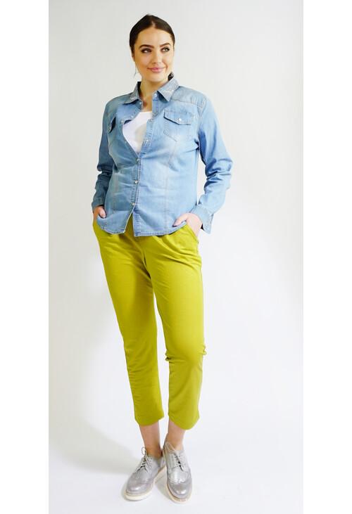 Sophie B Pistachio Buckle Detail Trousers