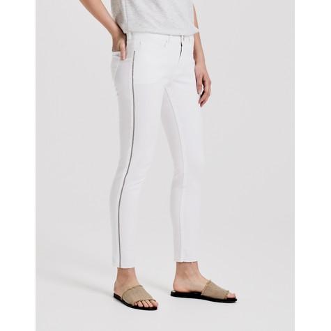 Opus White Jeans Elma 7/8 glitter