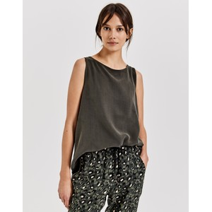 Opus Olive Green Ignata Blouse Top