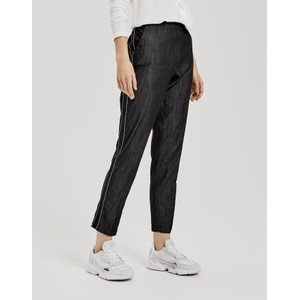 Opus Cigarette trousers Edira black tape