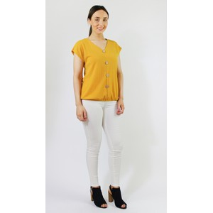 SophieB Sunshine Lurex Button Up Top