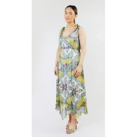 SophieB Yellow & Blue Stripe V-Neck Dress