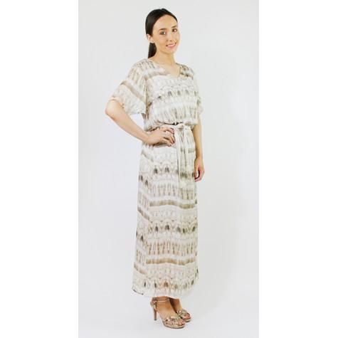SophieB Beige Tie Dye Belt Detail Long Dress