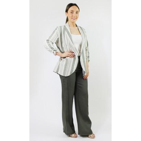 SophieB Khaki Buckle Detail Loose Trousers