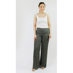 SophieB Khaki Buckle Detail Loose Trousers