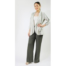 SophieB Beige & Khaki Stripe Jacket