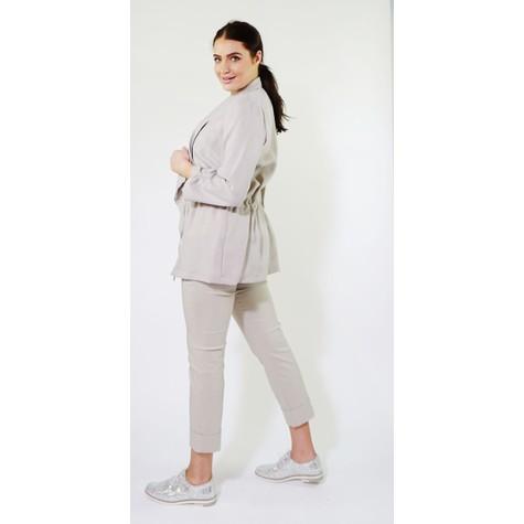 SophieB Taupe Drawstring Jacket