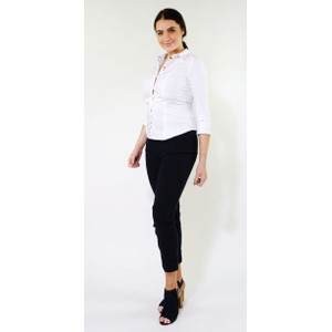 Tinta Style White Red Button Up Blouse