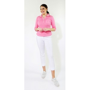 Twist Candy 3/4 Sleeve Polo Top