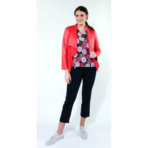 SophieB Red Crop Biker Style Jacket