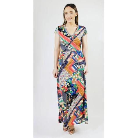 Pamela Scott Floral Multi Print Pattern Diamante Detail Dress