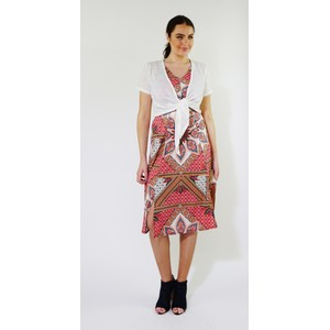 SophieB Off White Tie Front Top