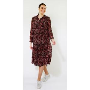 Kilky Paris Black & Red Floral Long Dress