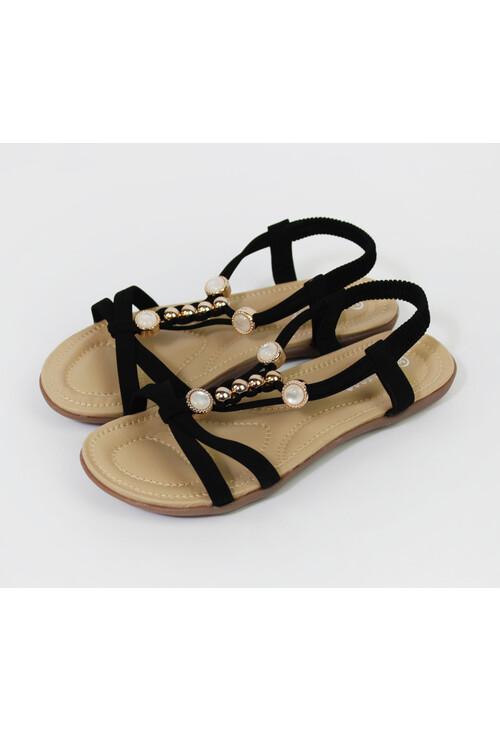 Pamela Scott Clack Strap Pearl Detail Sandal