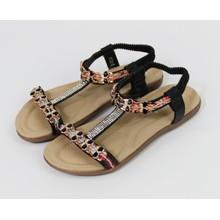 Pamela Scott Champagne Pearl Detail Sandal