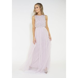 Maya Sequins overlay tulle dress