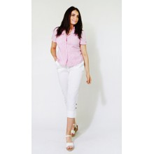 Twist Pink Fine Strip Button Up Shirt