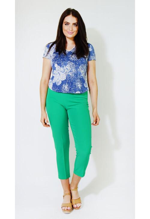 Zapara Emerald Green Buckle Detail Trousers