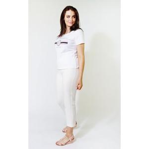 Twist 5th Ave Diamante Detail White T-Shirt