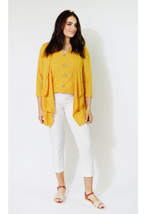 Sophie B Sunshine Rouched Light Knit