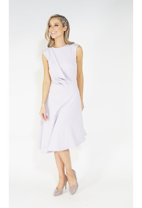 Closet Lilac Flared Asymmetric Dress