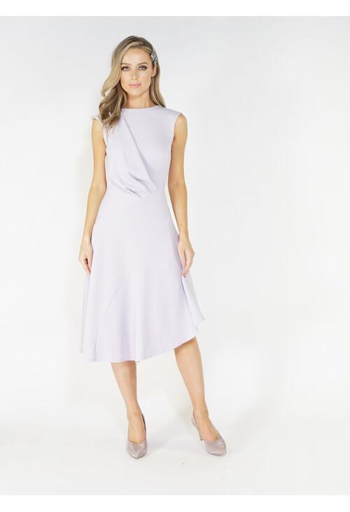 Closet Lilac Flared Asymmetric Dress