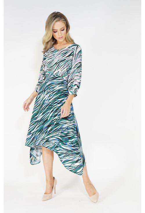 Closet Animal Print Hanky Hem Dress