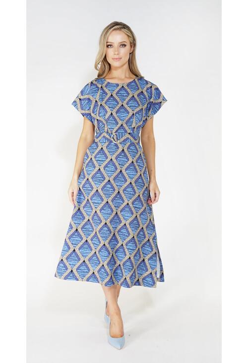 Closet Printed Kimono Midi A-Line Dress