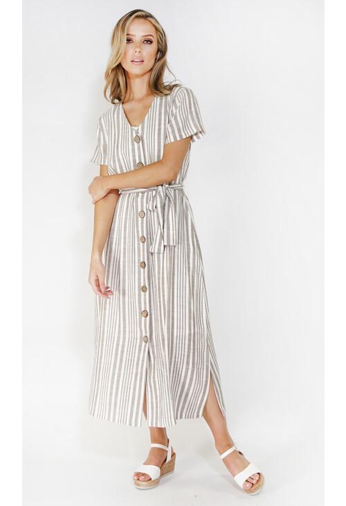 Sophie B stripe button through dress
