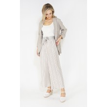 SophieB Sophie B culotte linen look trousers with tie belt