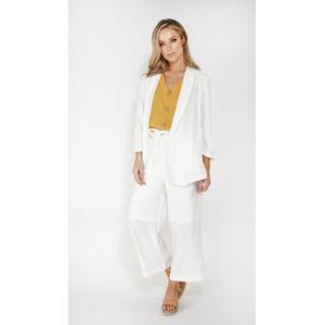 SophieB linen look unstructured blazer